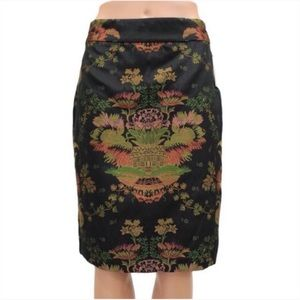 CAbi | Chinoiserie Jacquard Tapestry Pencil Skirt